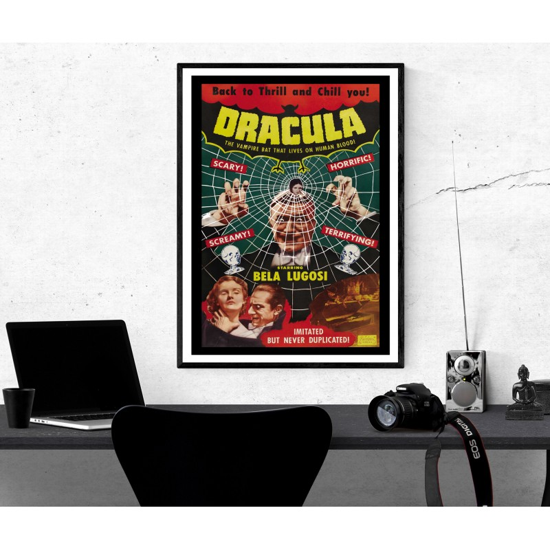 Vintage Horror Movie Poster Dracula Collectable Repro Glossy Poster 4 sizes