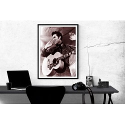 Elvis Presley in Concert Poster Elvis Presley Music Poster Elvis Presley Black & White Music Concert Poster A1/A2/A3/A4