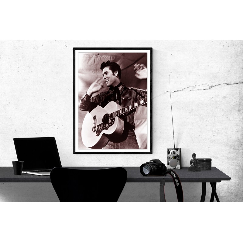 Elvis Presley in Concert Poster Elvis Presley Music Poster Elvis Presley Black & White Music Concert Poster A1/A2/A3/A4