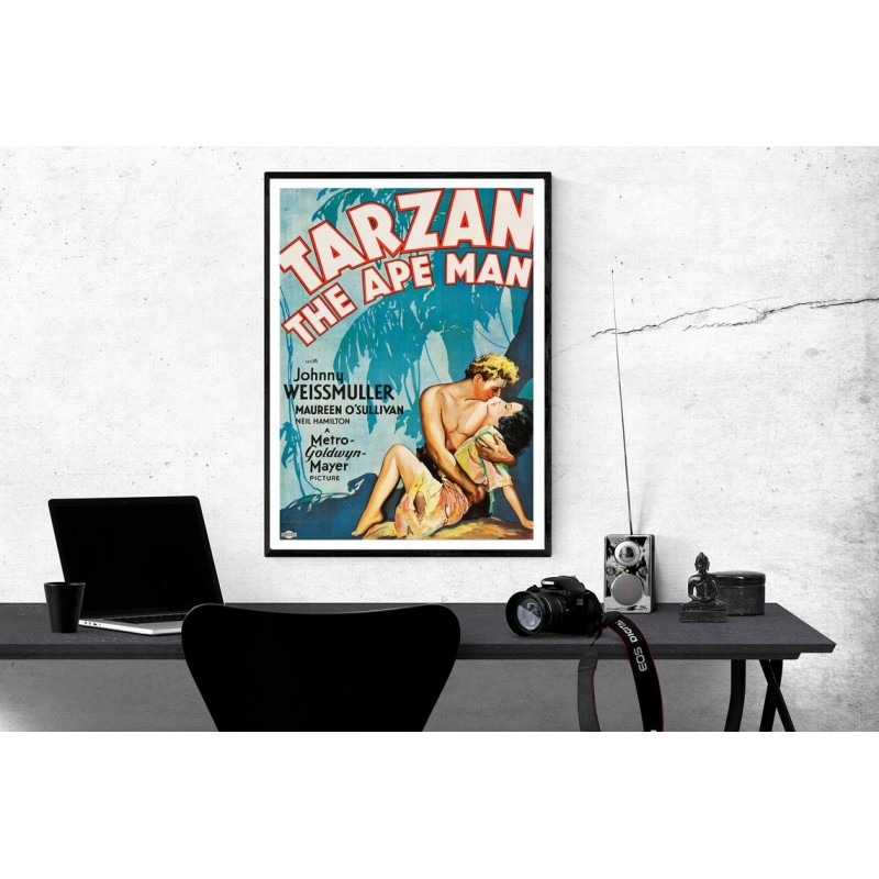 Tarzan The Ape Man Vintage Movie Collectable Tarzan The Ape Man Scfi Poster