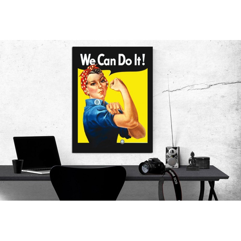Vintage We Can Do It Poster Print Howard Miller 1942 Poster We Can Do It War Time Poster Print