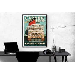The Cunard Line Vintage Travel Poster Travel Collection Posters