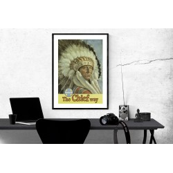 1950's Santa Fe The Chief Way - Vintage American Travel Poster glossy Print