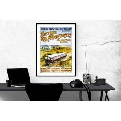 London Brighton and South Coast Railway Vintage Railway Posters