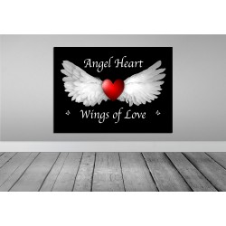 loveartsandflowers angel heart wings of love prints