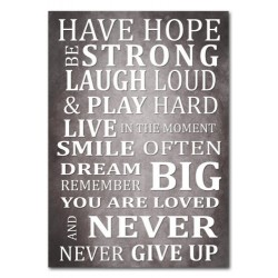 Have Hope Be Strong motivational quote