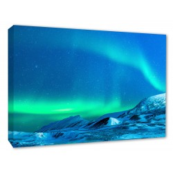 AURORA BOREALIS Glazier Northern Lights Wall Canvas prints
