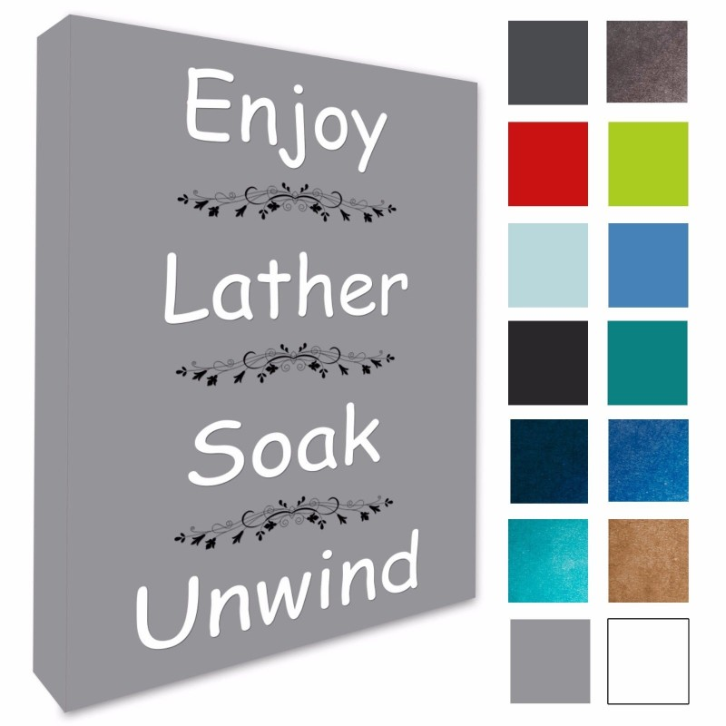 Bathroom Wall Art Picture Enjoy Lather Soak Canvas Prints A1 A2 A3 A4