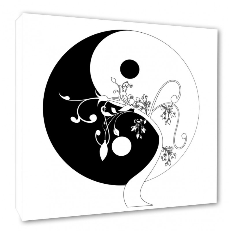 Yin Yang Wall Canvas Prints