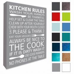 Kitchen Rules Wall Art Canvas Print
