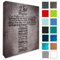 The Lords Prayer Wall Canvas Print Loveartsandflowers