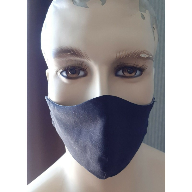 black face masks 100% cotton double layers UK MADE