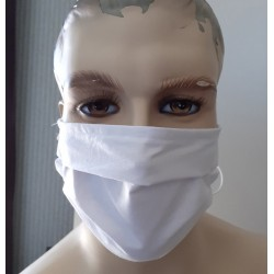 UK Face Masks Adults White Face Masks With Tie Backs 100% cotton double layers Washable & Reusable - Made in The UK