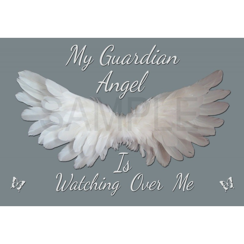 c9a8b56d9aa1f Guardian Angel Is Watching Over Me Wall Canvas Pack of 4 Prints