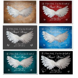 if i listen closely i can hear the rustle of angel wings and know that you're still with us poster prints