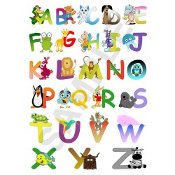 ABC Animal Alphabet Children's Bedroom Wall Art Posters