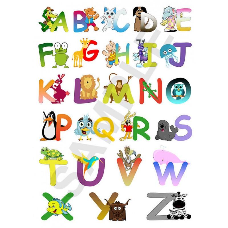 ABC Animal Alphabet Children\'s Bedroom Wall Art Posters x10