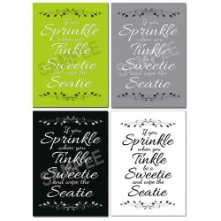 Bathroom Wall Art Posters If You Sprinkle When You Tinkle be a sweetie and wipe the seatie