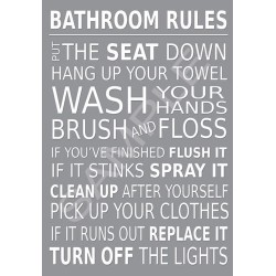 Bathroom Rules Wall Art...